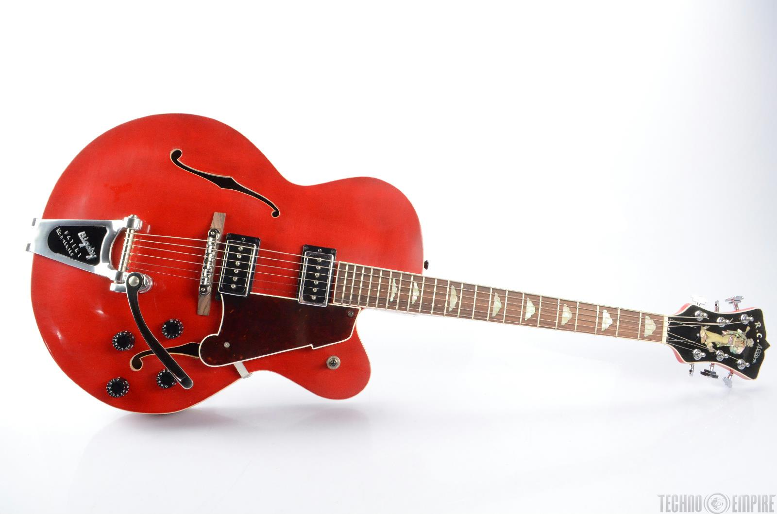 RC Allen Uncle Chester Red Hollowbody Electric Guitar Bigsby w/ Case #23060