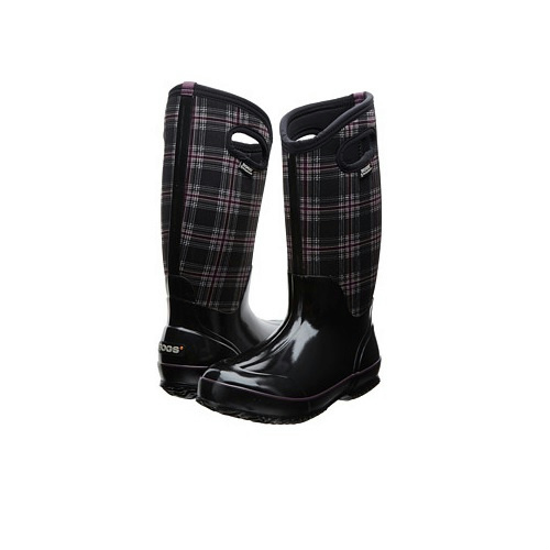 Bogs Classic Winter Plaid Tall Boots Womens Outdoor Boots