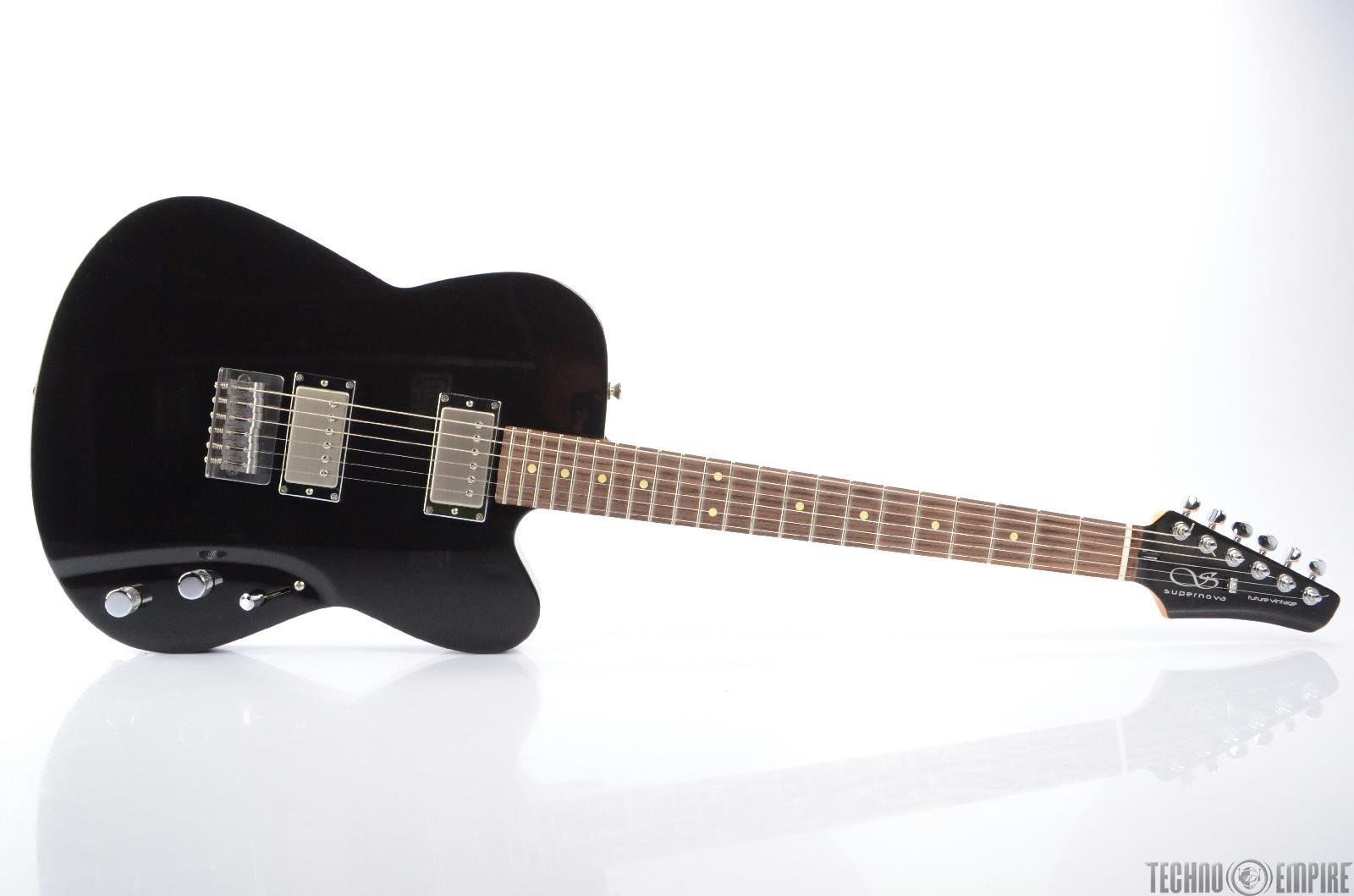 buzz feiten supernova futura prototype black electric guitar w gig bag 23277 ebay. Black Bedroom Furniture Sets. Home Design Ideas