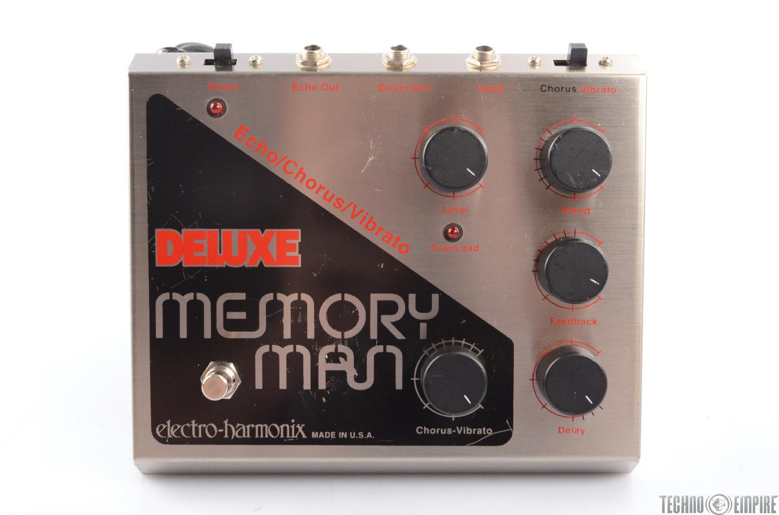 ehx deluxe memory man analog delay chorus vibrato pedal paul gilbert 23312 ebay. Black Bedroom Furniture Sets. Home Design Ideas