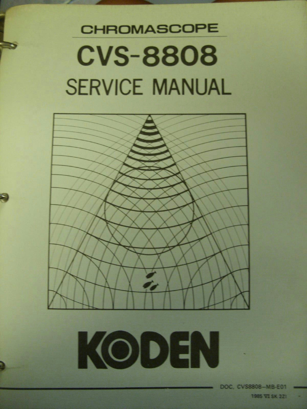 koden service manual hard cover cvs