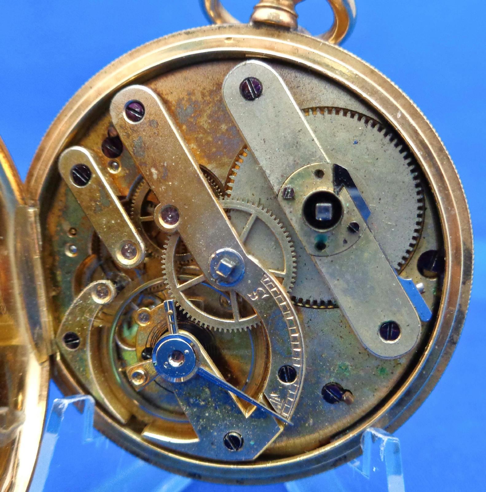 10 Size 18k Gold Henry Beguelin Key Wind Key Set Pocket