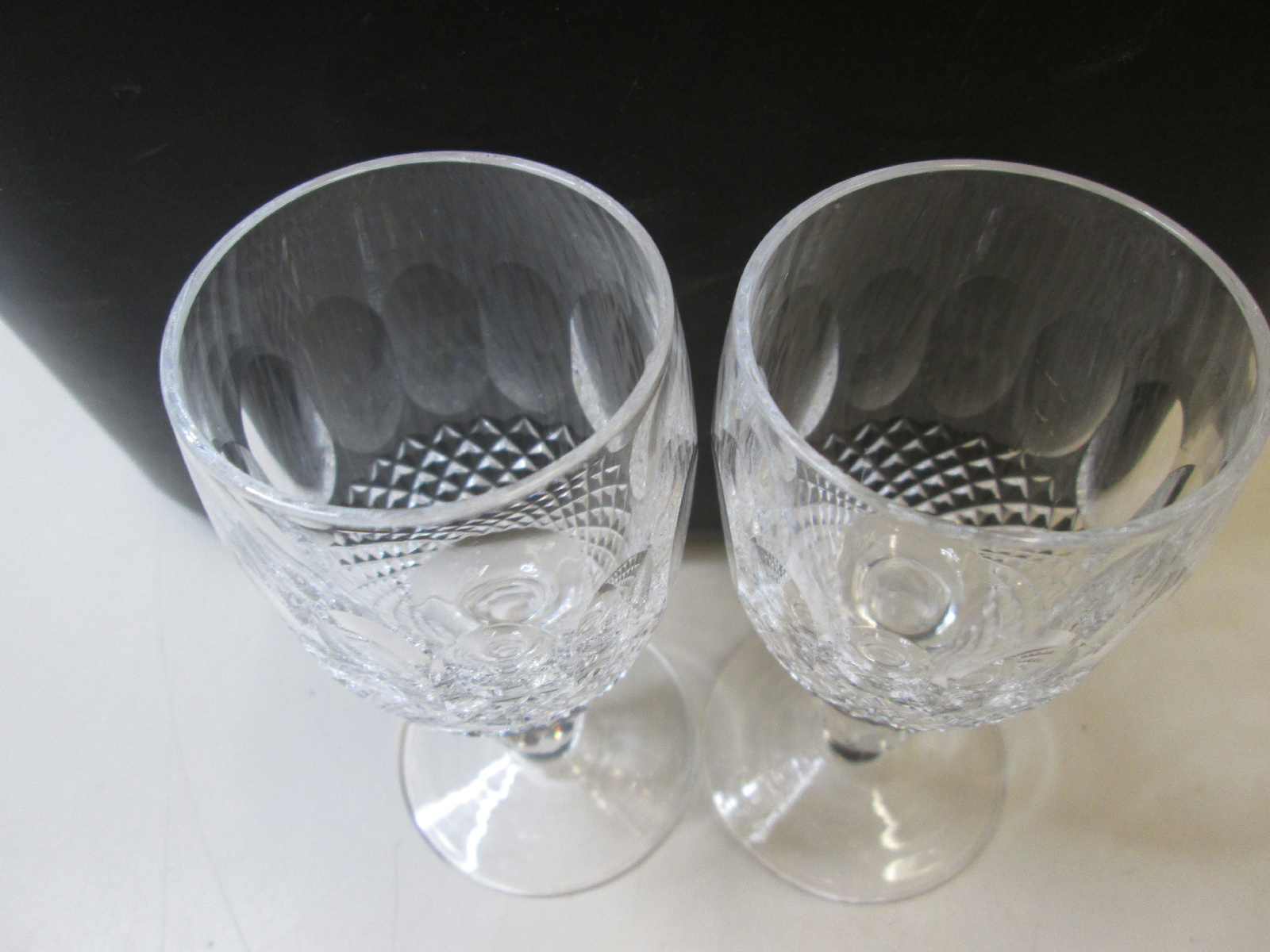 Lot of 2 waterford crystal colleen small wine glasses 4 1 4 - Wedgwood crystal wine glasses ...