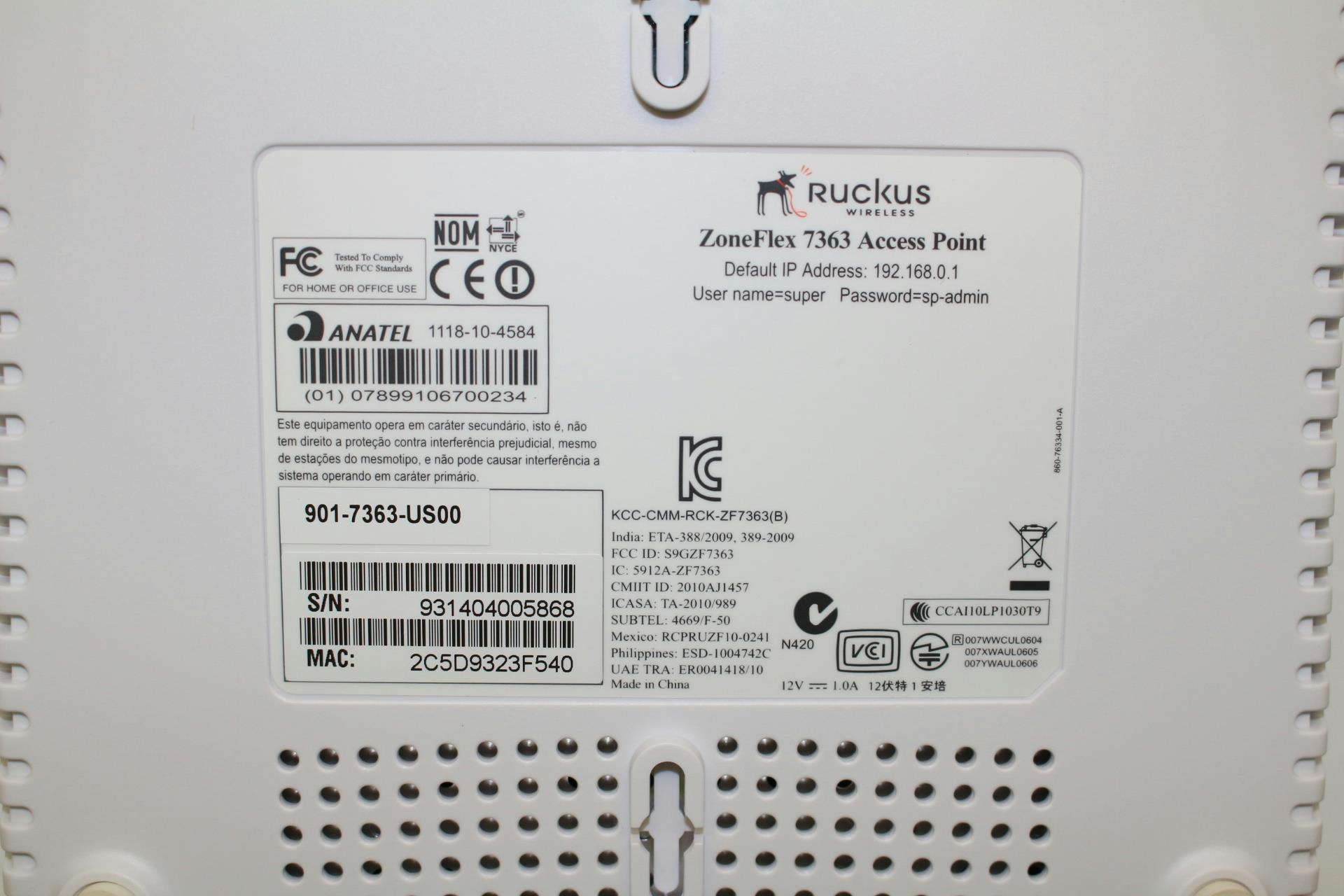 Ruckus 901 7363 US00 ZoneFlex 7363 wireless access
