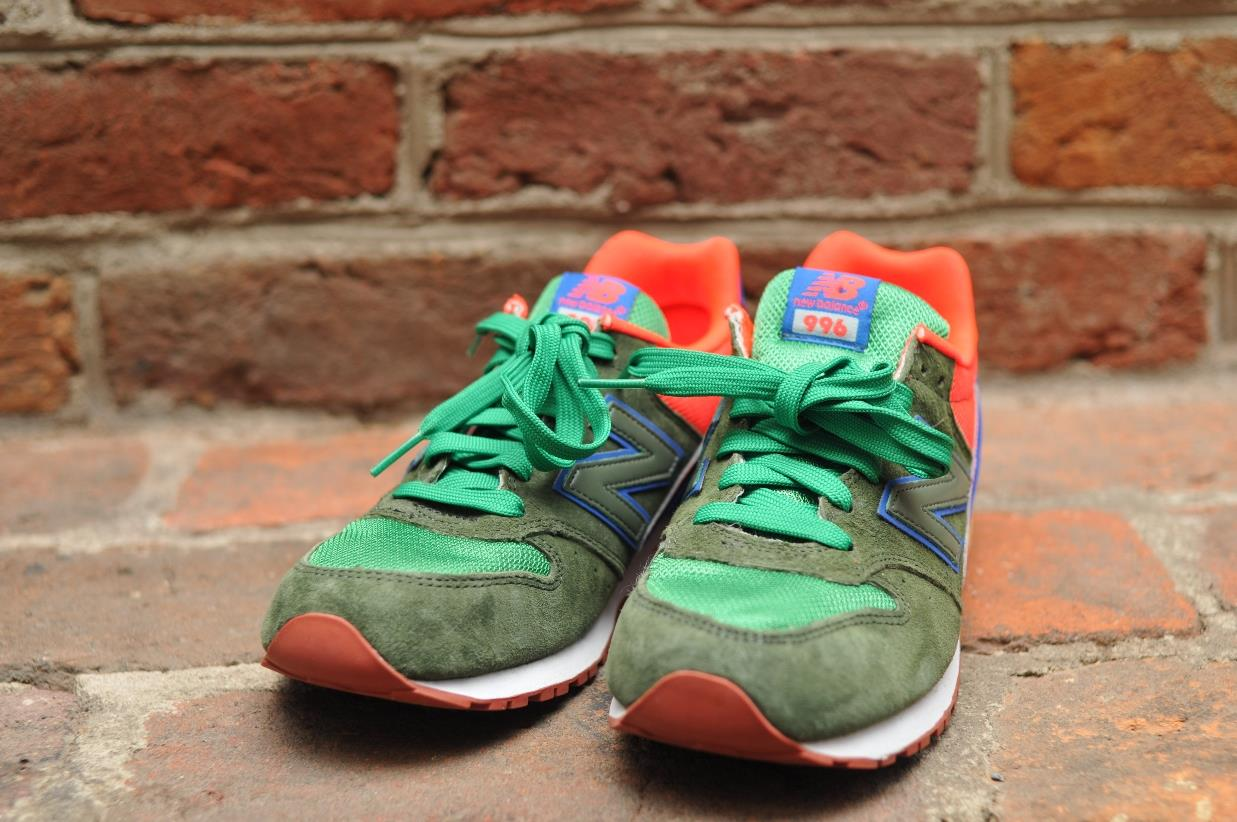 new balance j crew 996 sneakers athletic shoe green blue