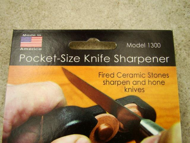 Ceramic Stones Made : Firestone pocket size knife sharpener ceramic stones