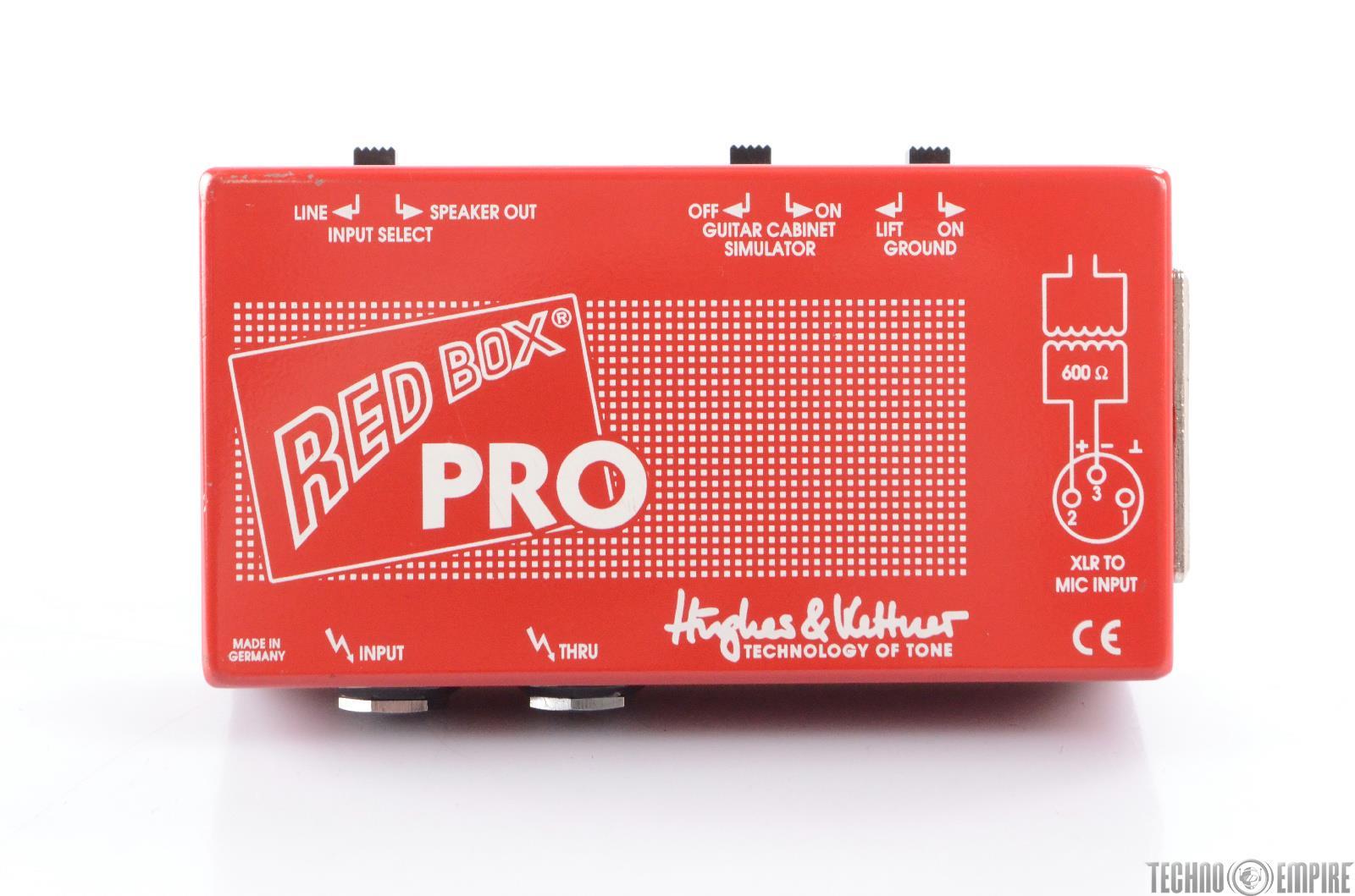 hughes kettner red box pro direct box di with guitar cabinet simulator 23826 ebay. Black Bedroom Furniture Sets. Home Design Ideas