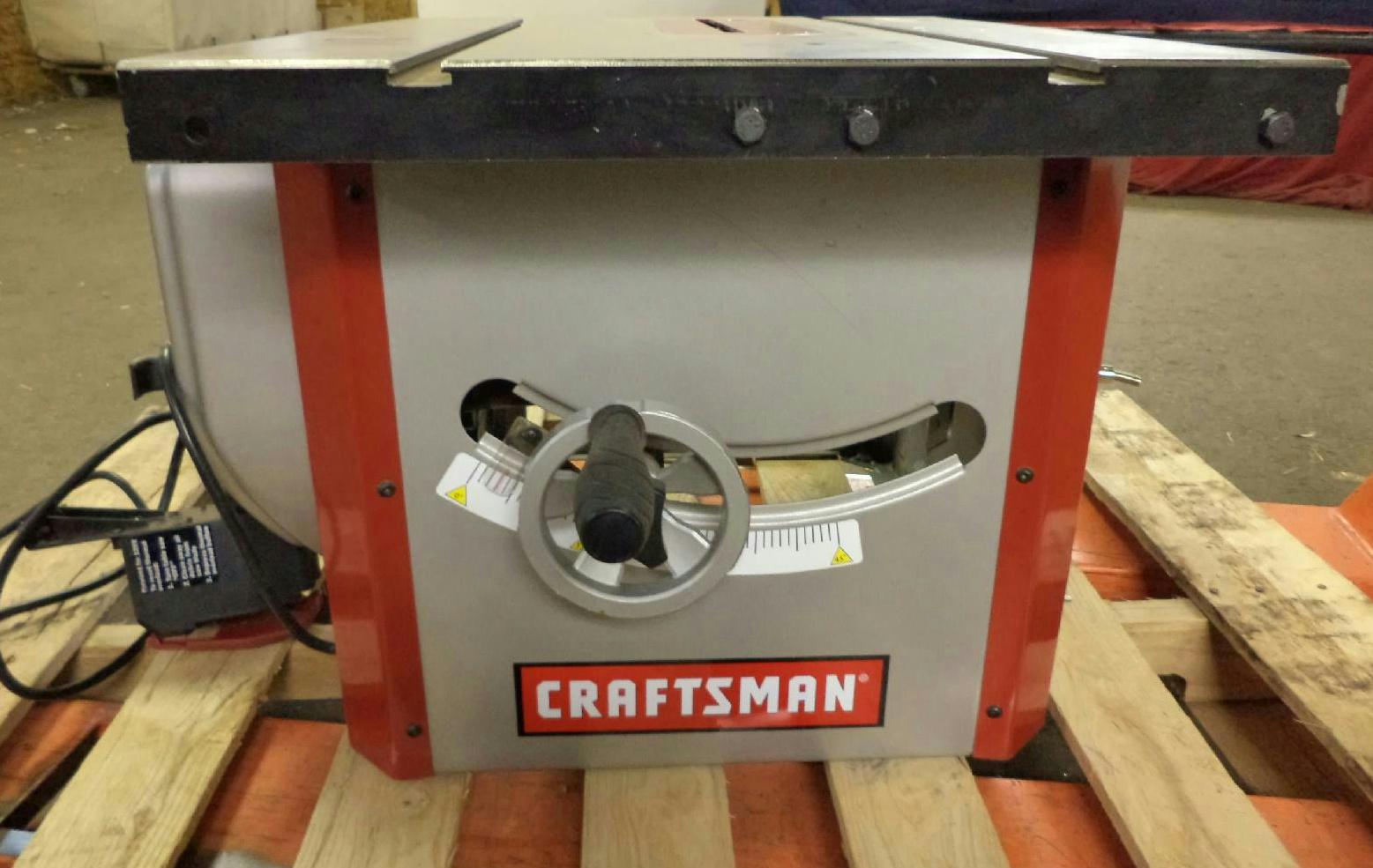 Pallet incomplete craftsman 10 inch contractors table saw for 10 inch craftsman table saw