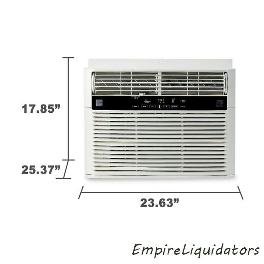 Pallet kenmore elite 15 100 btu 115v window mounted room for 15 width window air conditioner