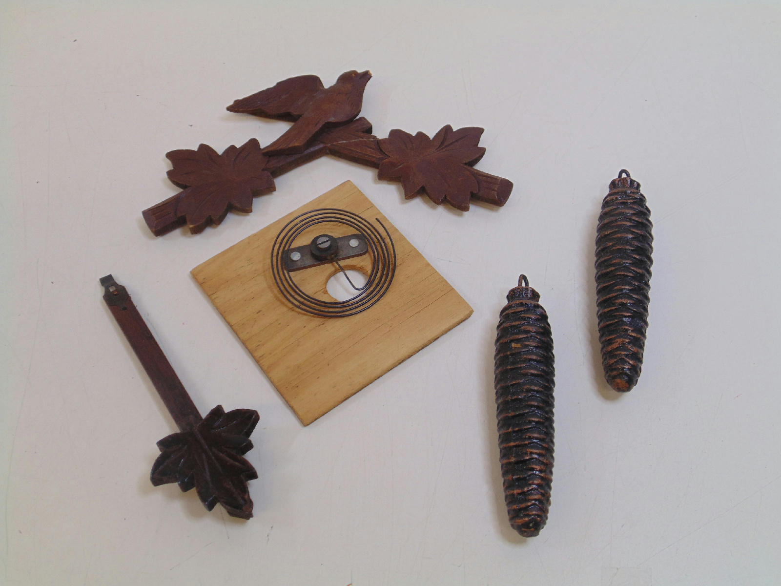 Black forest wooden cuckoo clock made in germany for parts repair ebay - Wooden cuckoo clocks ...