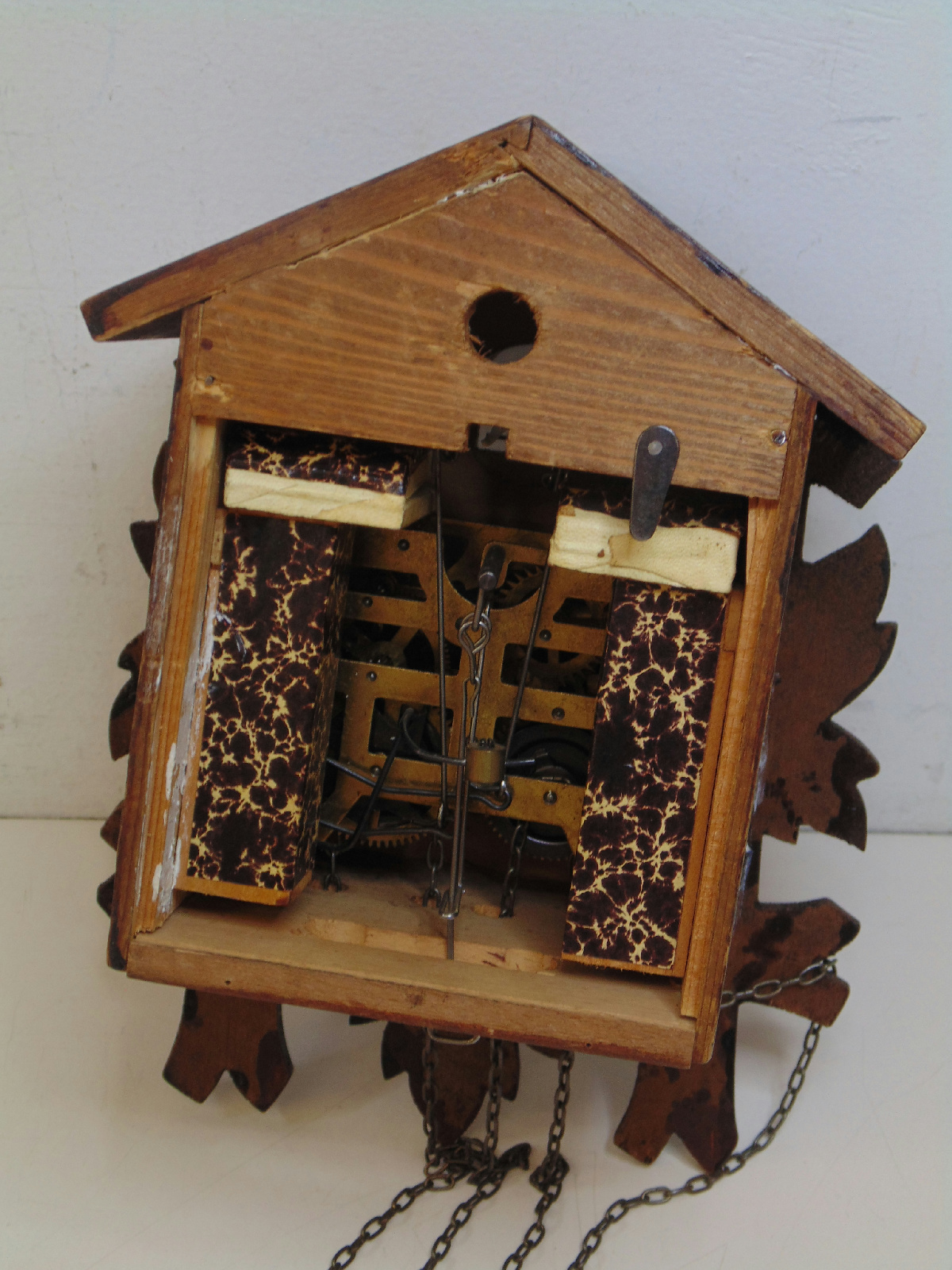 Black forest wooden cuckoo clock made in germany for parts - Wooden cuckoo clocks ...