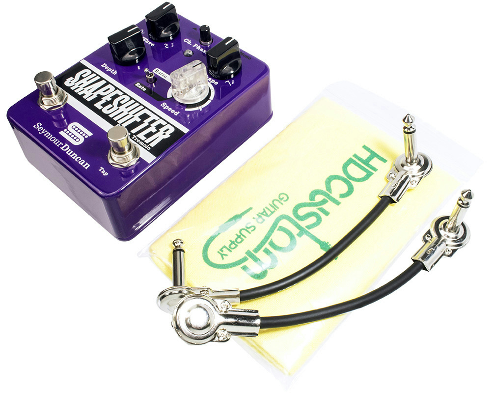 seymour duncan shape shifter stereo tremolo pedal w 2 patch cables polish cloth ebay. Black Bedroom Furniture Sets. Home Design Ideas