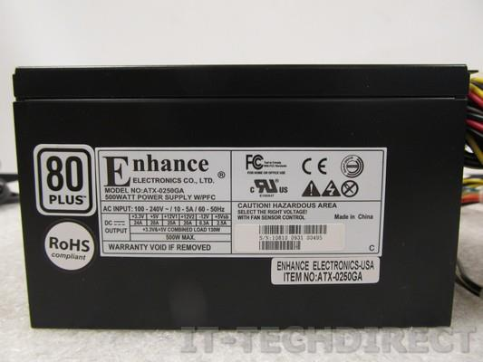 enhance electronics model atx-0250ga 500w atx power supply