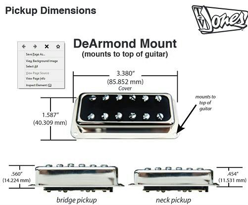 tv jones t armond neck position guitar pickup gold. Black Bedroom Furniture Sets. Home Design Ideas