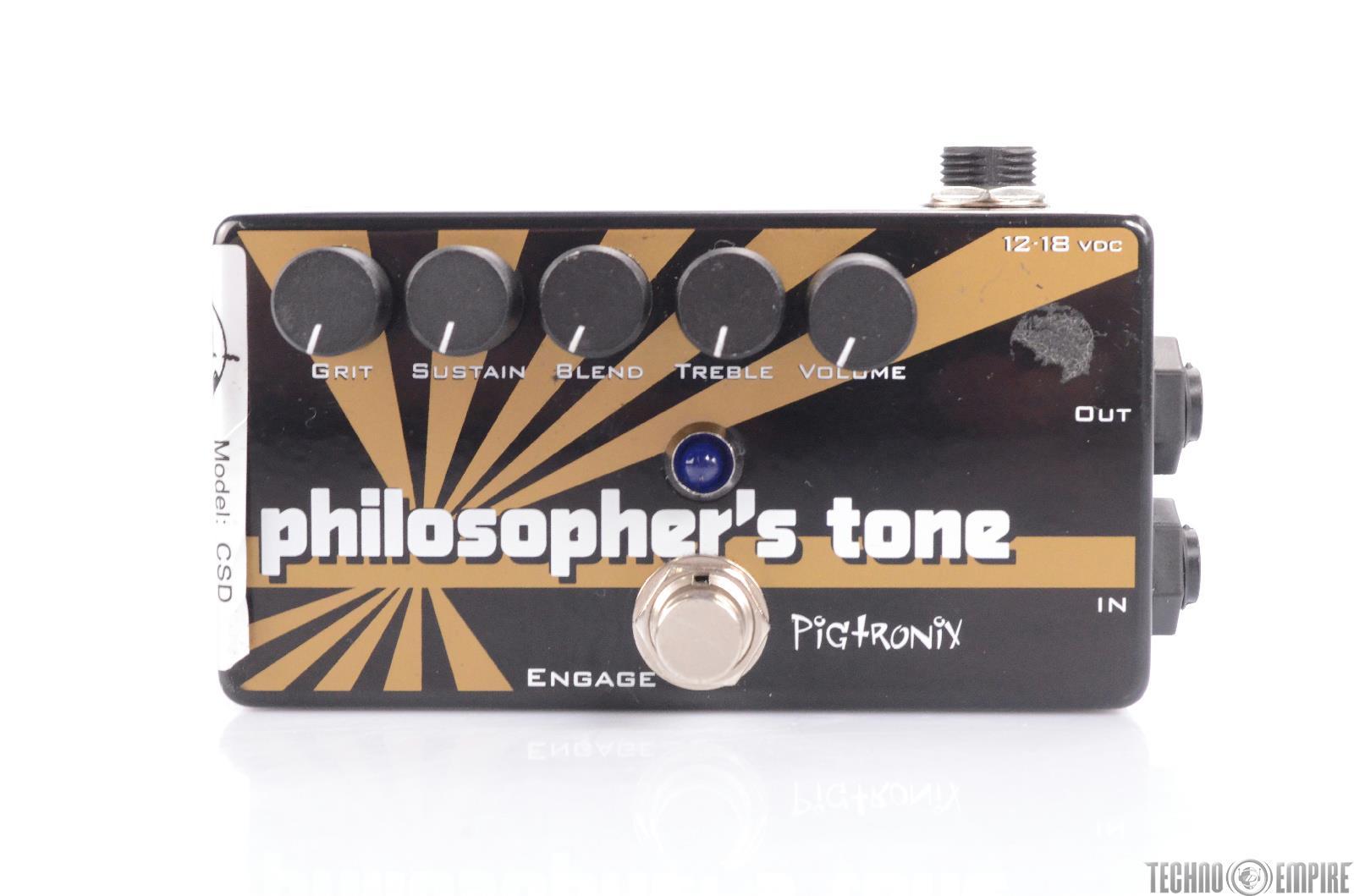 Pigtronix Philosopher's Tone Compressor Sustain CSD Guitar Effects Pedal #24179