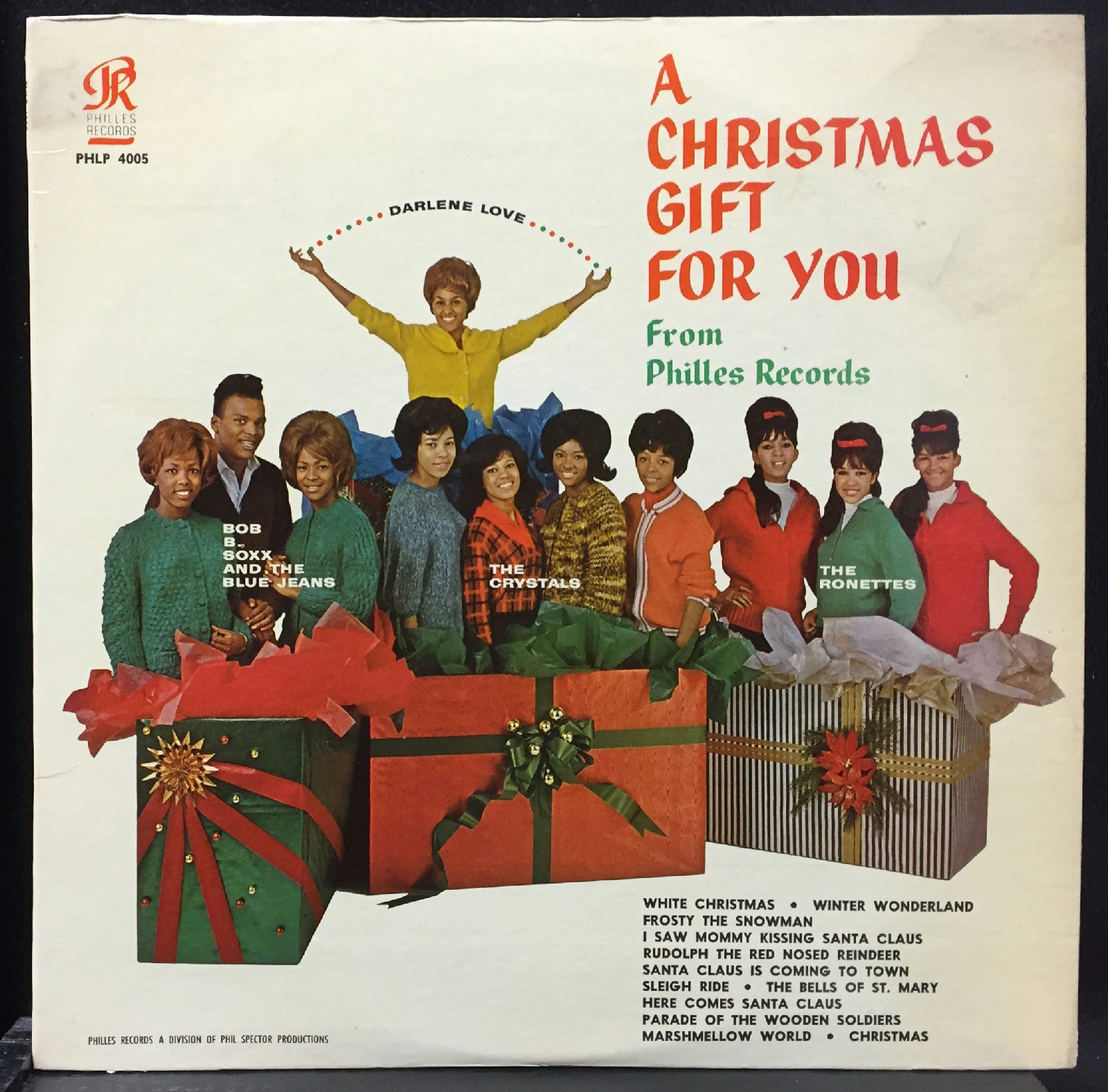 A Christmas Gift For You From Phil Spector.Details About Phil Spector Crystals Ronettes A Christmas Gift For You Lp Vg 1963 Usa Phlp 4005