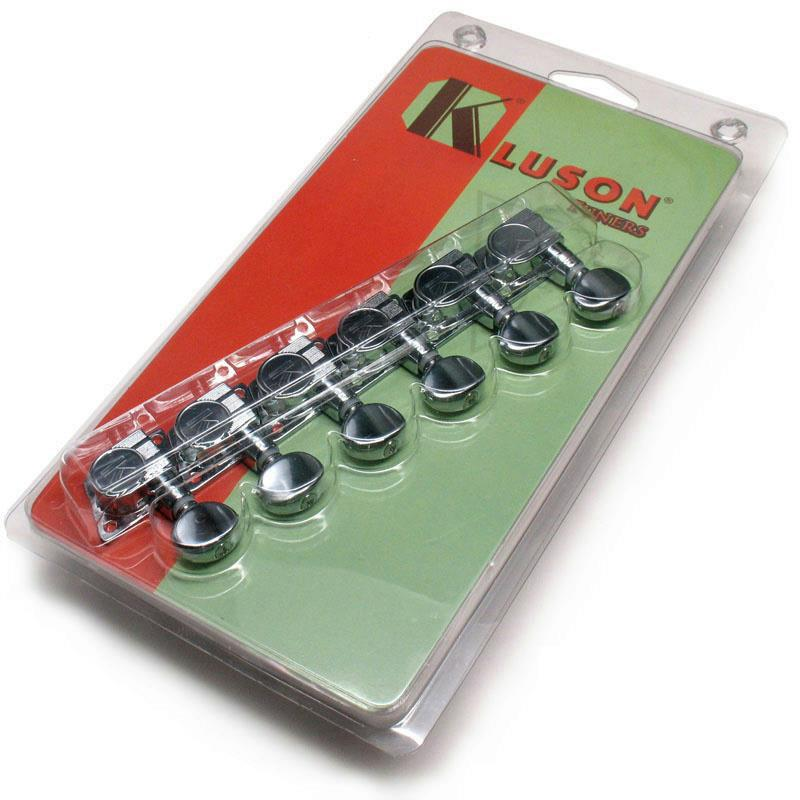 kluson replacement guitar tuners for fender 39 70s f tuners chrome kft 3805cl ebay. Black Bedroom Furniture Sets. Home Design Ideas