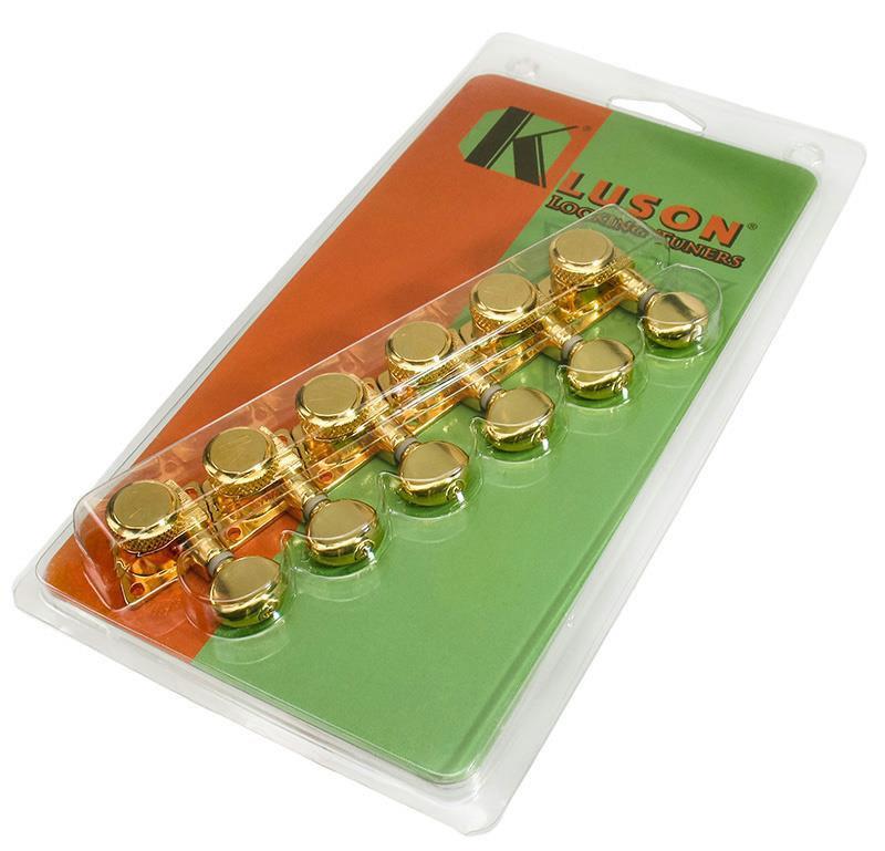 kluson revolution locking guitar tuners retrofit fender 39 70s f tuners gold ebay. Black Bedroom Furniture Sets. Home Design Ideas