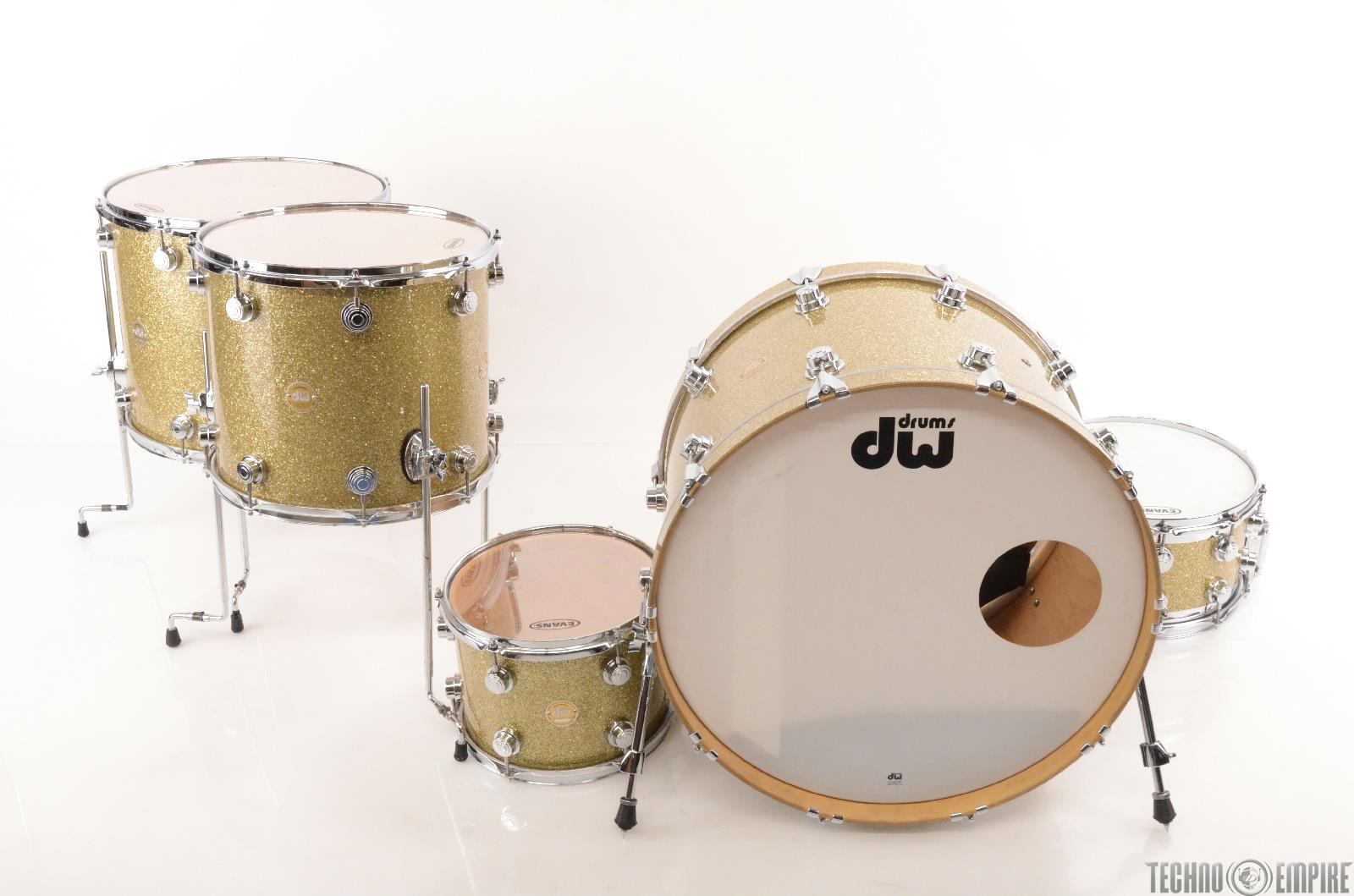 DW Collector's 5pc Gold Drum Set w/ Edge Brass/Maple Snare STEVIE NICKS #23779
