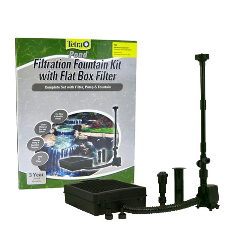 Tetra pond fk6 fountain kit 550 gph pump filter kit for Pond pump pre filter