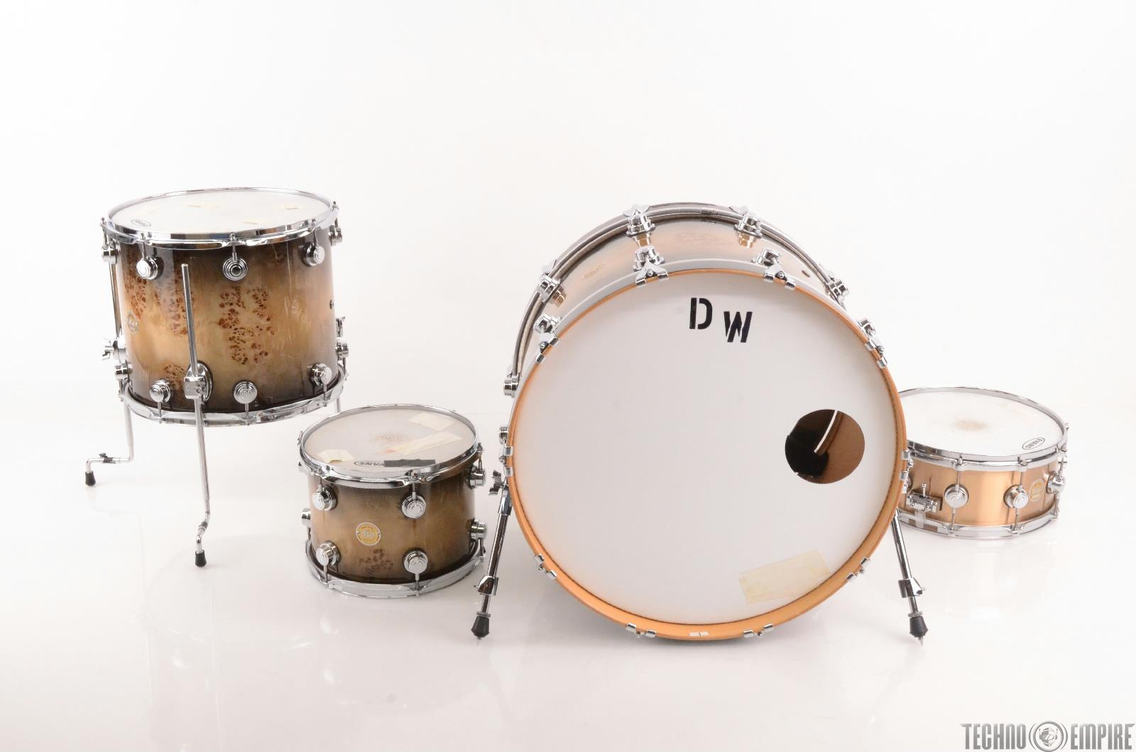 DW Collectors Exotic 3pc Drums Mapa Burl Bell Bronze Snare STEVIE NICKS #23780