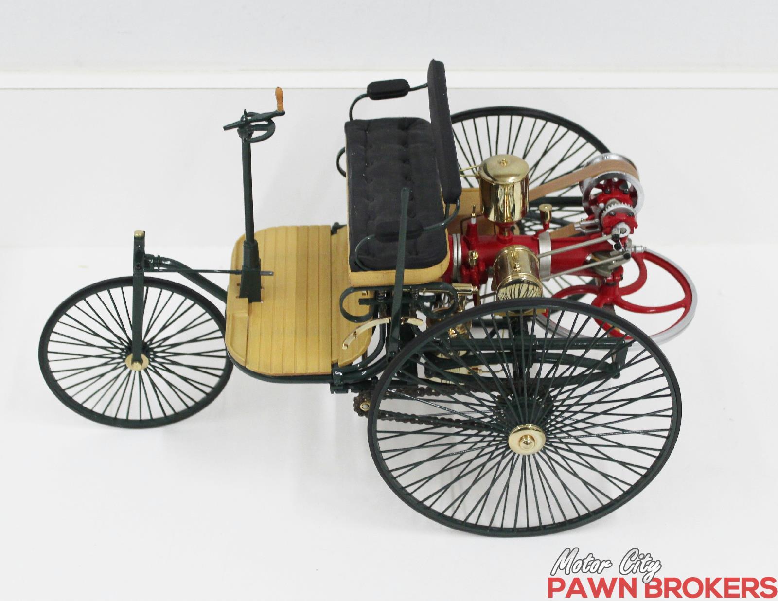 Franklin mint 1886 benz patent motorwagen 1 8 scale for Motor city pawn shop