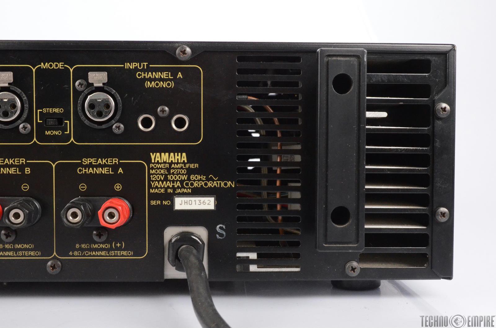 yamaha p2700 professional power amplifier amp 24352 ebay. Black Bedroom Furniture Sets. Home Design Ideas