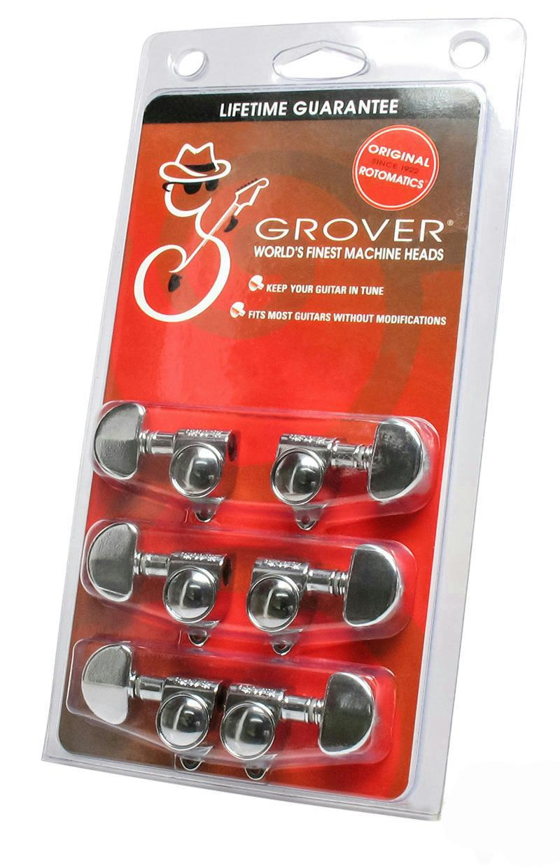 grover rotomatic 102c guitar tuners tuning machine heads 3x3 chrome guitar parts ebay. Black Bedroom Furniture Sets. Home Design Ideas
