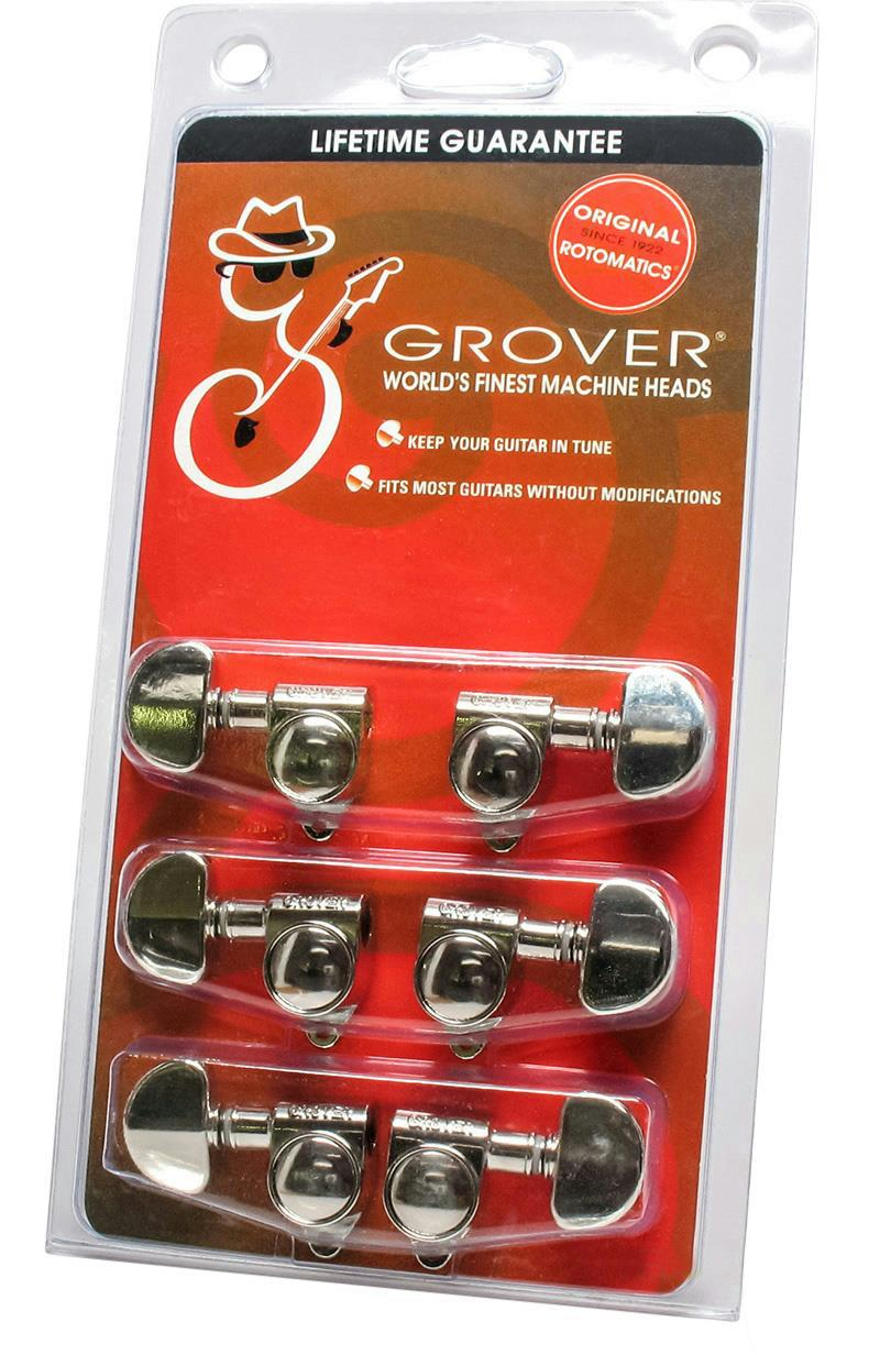 grover rotomatic 102n guitar tuners tuning machine heads 3x3 nickel guitar parts ebay. Black Bedroom Furniture Sets. Home Design Ideas
