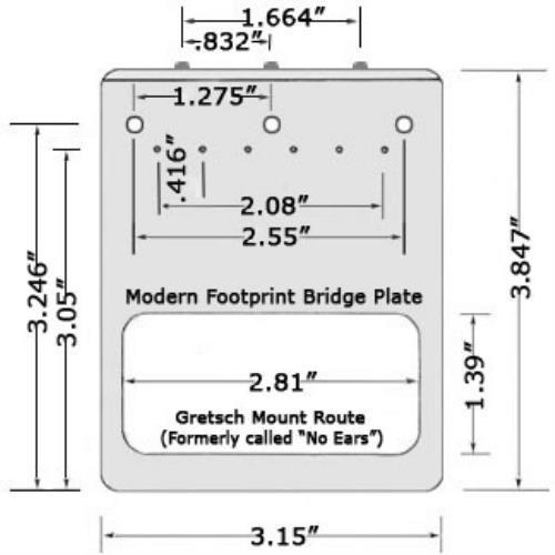 tv jones modern telecaster bridge cut for ne filtertron style pickup chrome. Black Bedroom Furniture Sets. Home Design Ideas