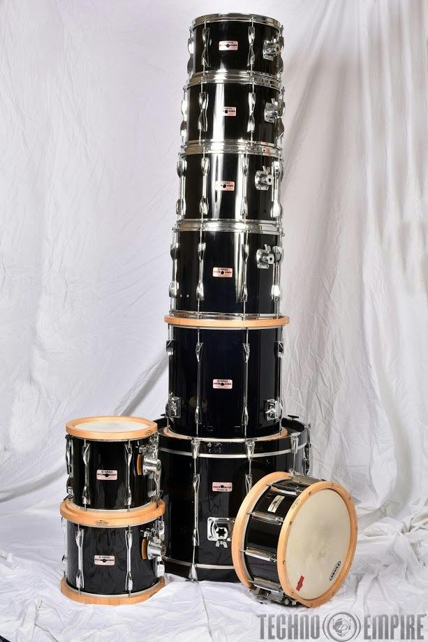 '78 YAMAHA Recording Custom 9 Piece Drum Kit Set IAN WALLACE King Crimson #24404