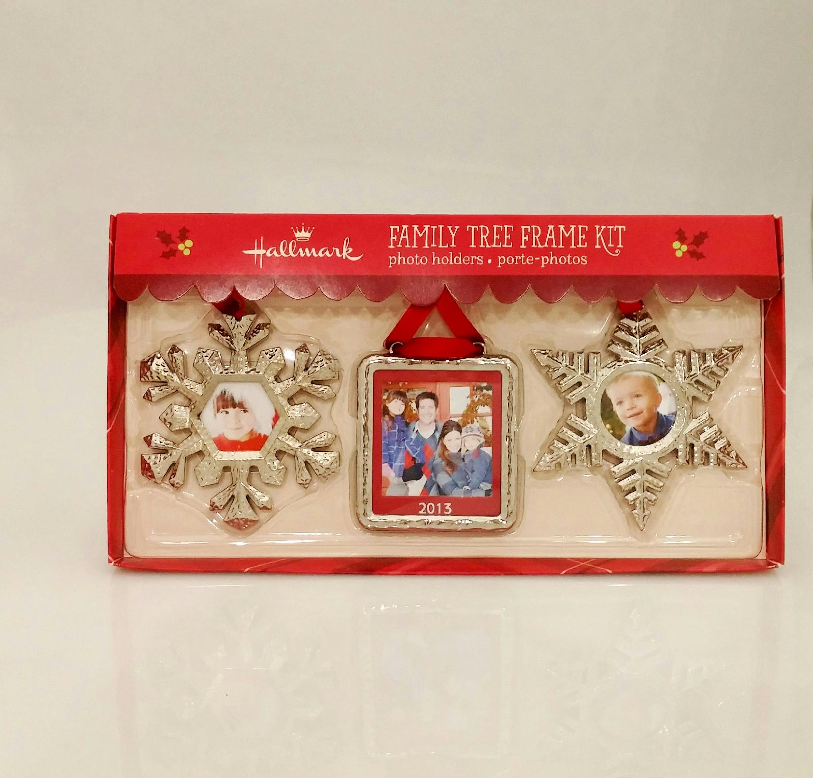 hallmark 2013 christmas silver holiday family tree photo frame kit ftf6004 ebay. Black Bedroom Furniture Sets. Home Design Ideas