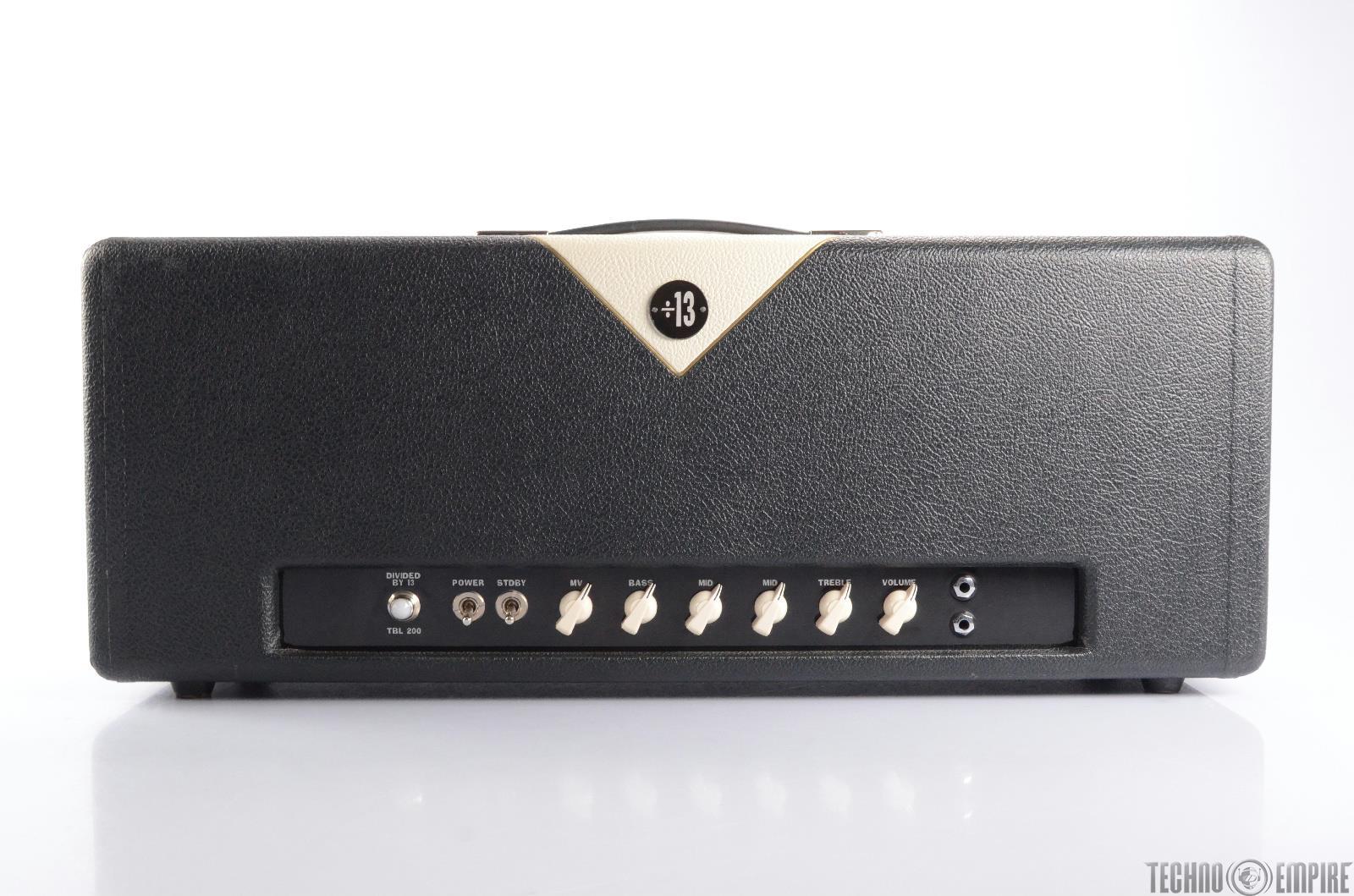 DIVIDED BY 13 TBL 200 Bass Amp Head 200 Watt Amplifier w/ Cover #24470