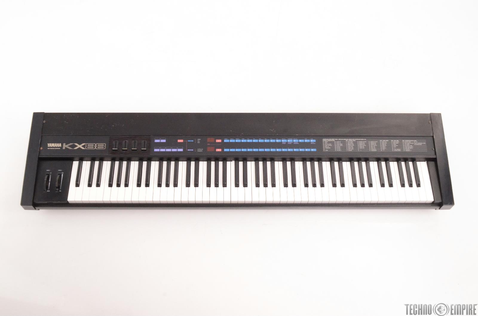Yamaha kx88 piano midi controller master keyboard weighted keys 24484 ebay for Yamaha fully weighted keyboard