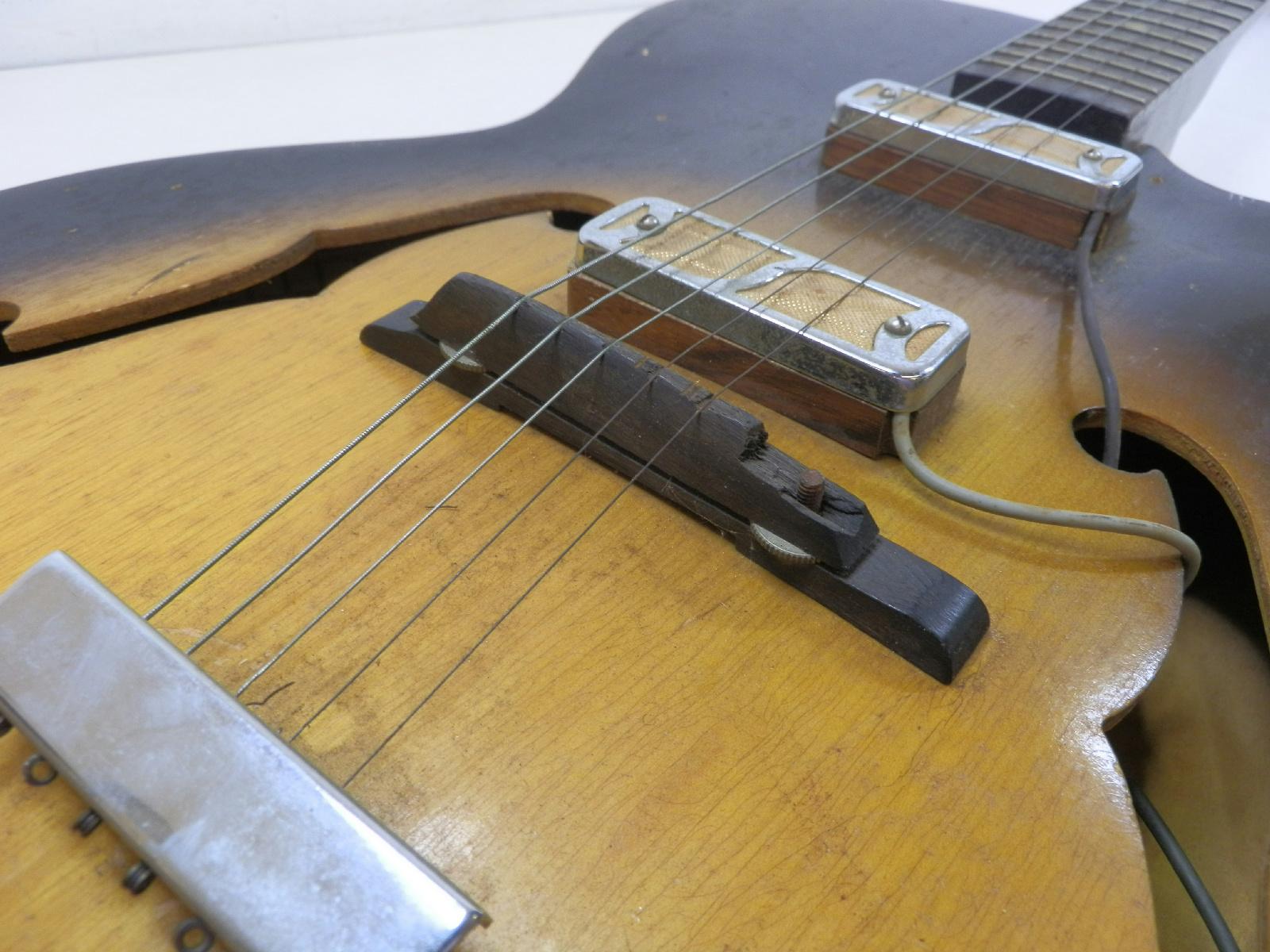 1960 harmony rocket h54 archtop electric guitar gold foil pickups parts repair ebay. Black Bedroom Furniture Sets. Home Design Ideas