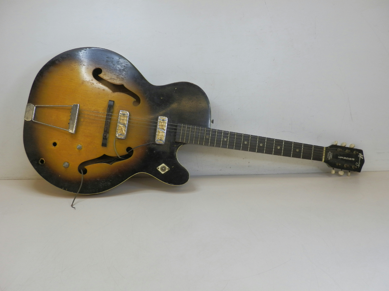 1960 harmony rocket h54 archtop electric guitar gold foil pickups parts repair ebay. Black Bedroom Furniture Sets. Home Design Ideas