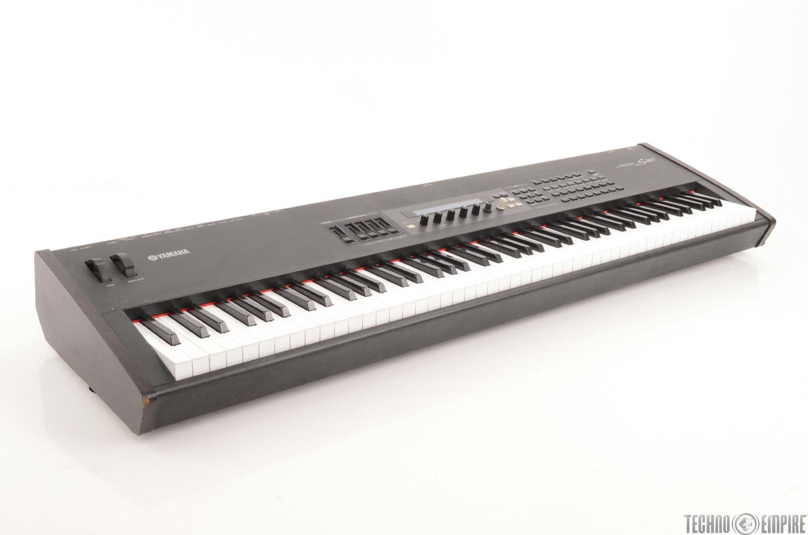 Yamaha s80 electric keyboard synthesizer midi w road case for How to repair yamaha keyboard