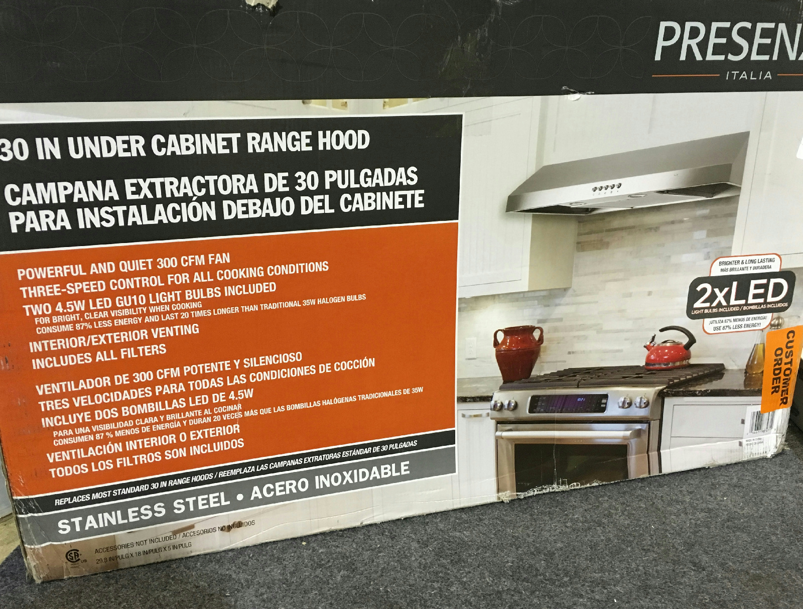 Most Powerful Range Hood ~ Presenza quot under cabinet range hood in stainless steel w