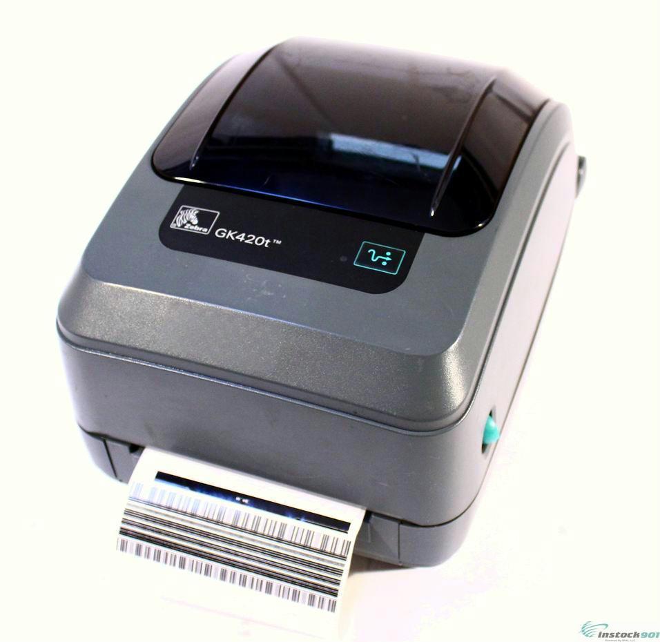 Zebra GK420t GK42-100210-000 Thermal Barcode Label Printer ...