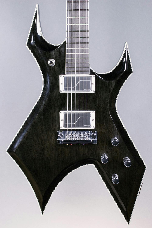bc rich warlock archtop flux dark fluence electric guitar