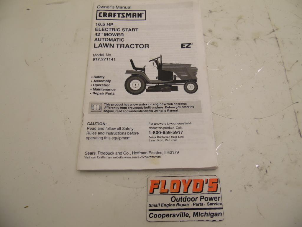 Craftsman Lawn Tractor Manual 917
