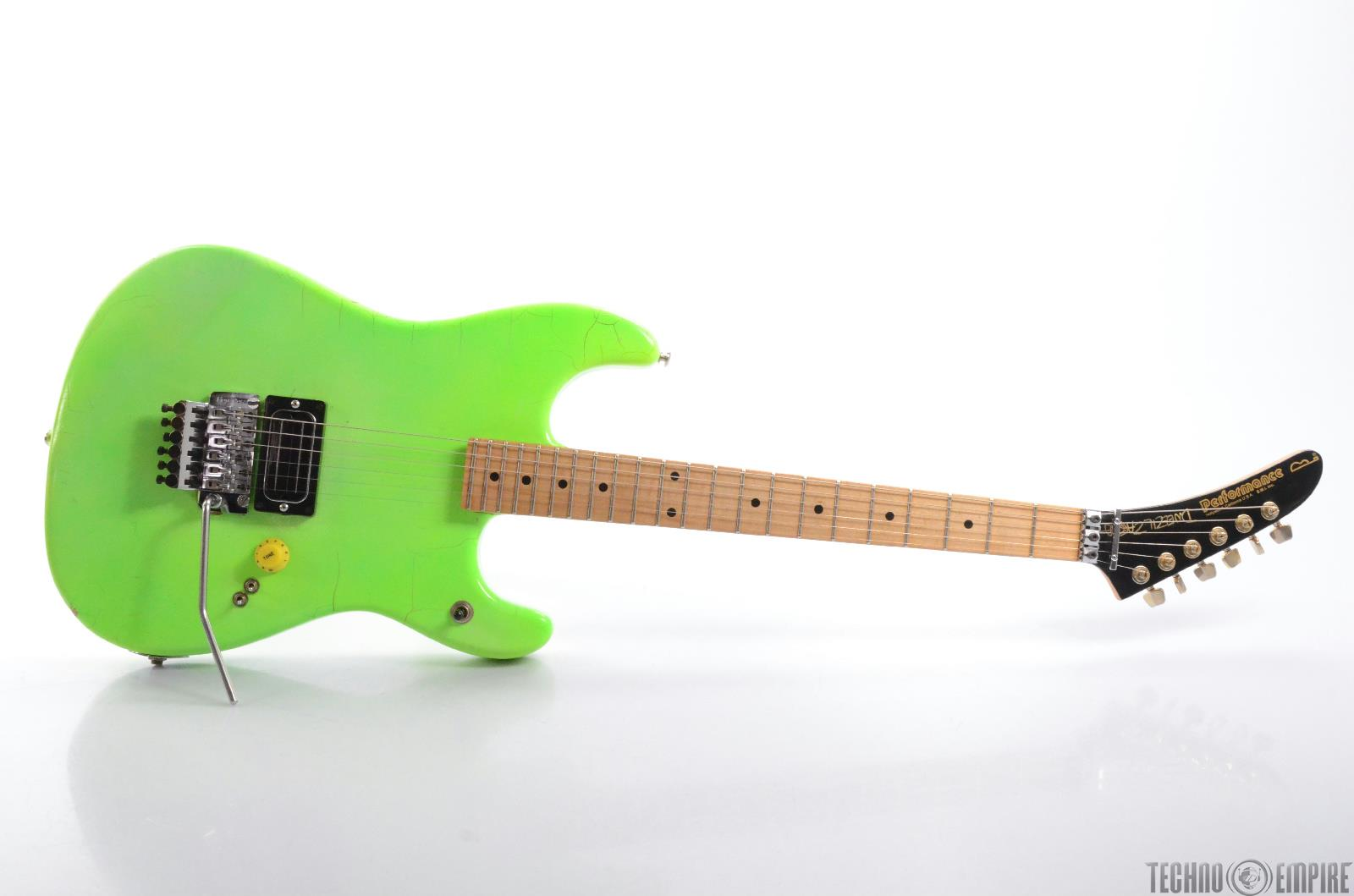 PERFORMANCE Electric Guitar Lime Green w/ Case Owned by ...
