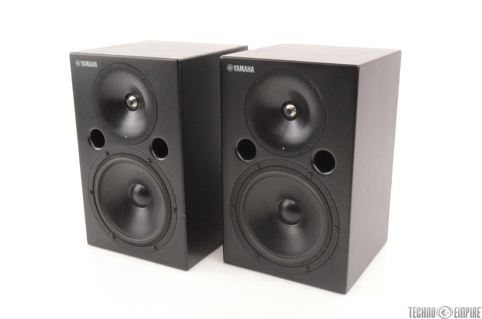 yamaha msp10 powered studio reference monitor speakers pair 24627. Black Bedroom Furniture Sets. Home Design Ideas