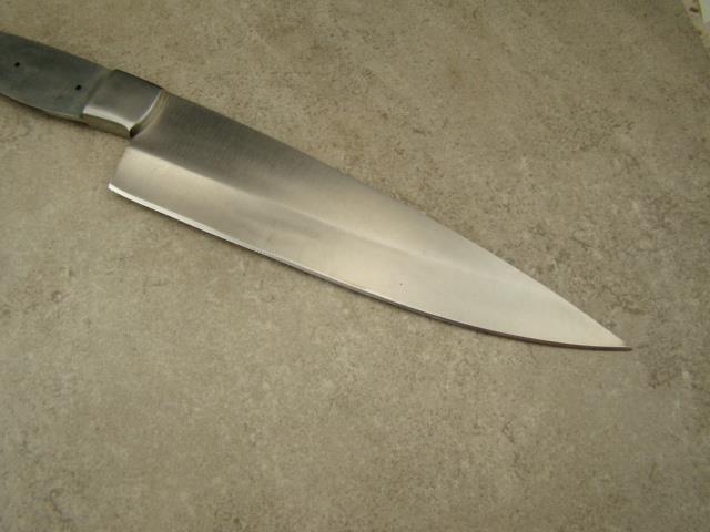 d2 steel 13 large professional chef knife blank knifemaking d2 13 3. Black Bedroom Furniture Sets. Home Design Ideas