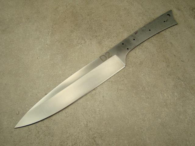 d2 steel 13 large professional chef knife blank knifemaking d2 14 5 ebay. Black Bedroom Furniture Sets. Home Design Ideas