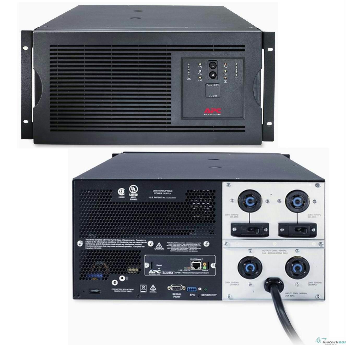 APC SUA5000RMT5U 5000VA 4000W 208V 5U RACK/TOWER SMART-UPS