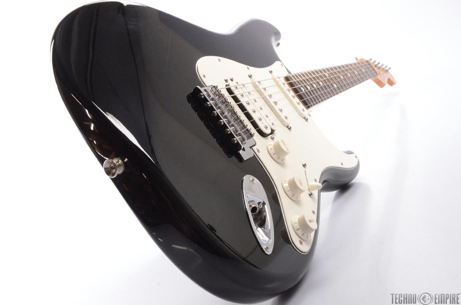 2009 fender stratocaster standard hss black strat electric guitar mim 24766 ebay. Black Bedroom Furniture Sets. Home Design Ideas