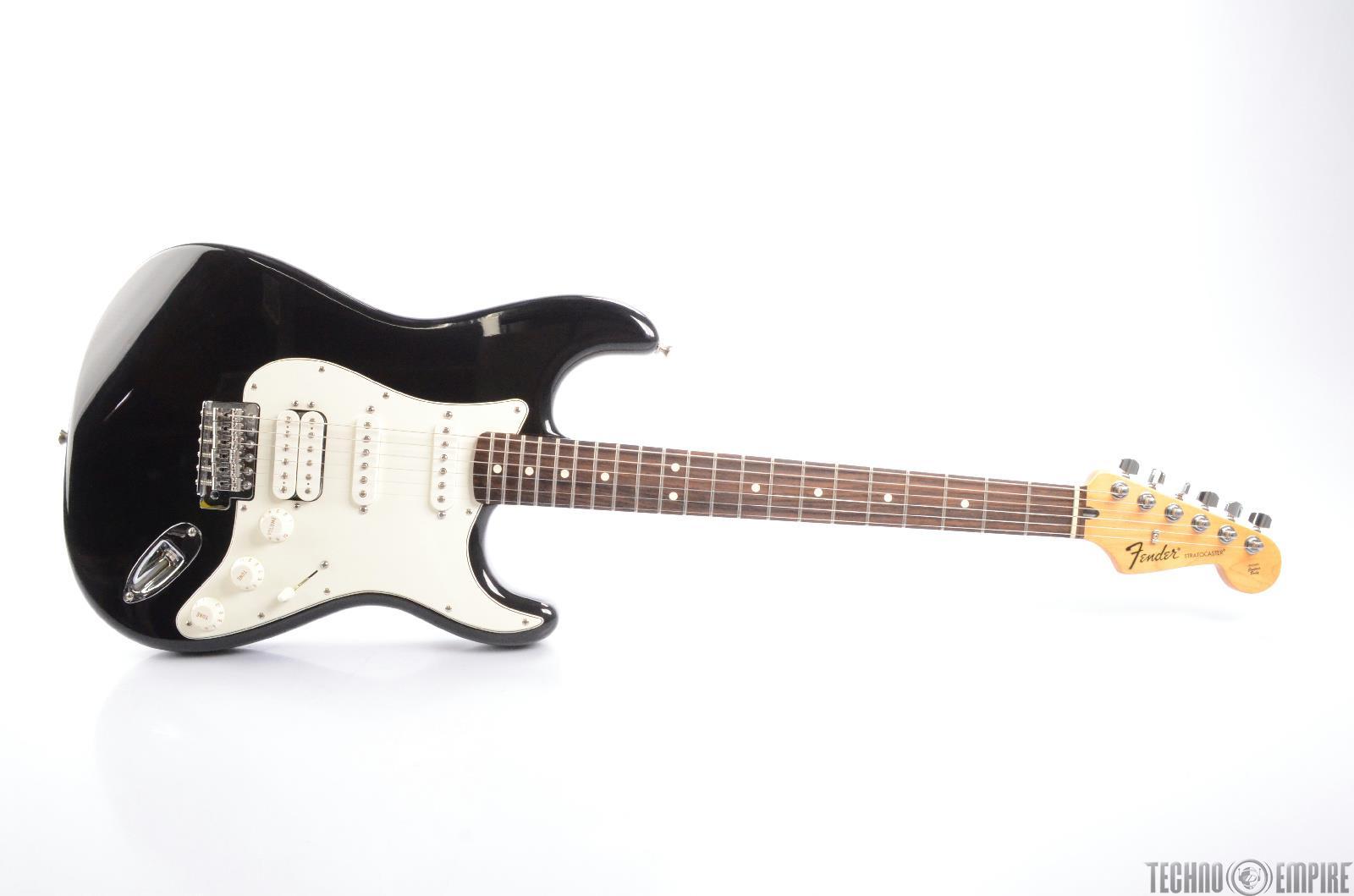 2009 FENDER Stratocaster Standard HSS Black Strat Electric Guitar MIM #24766