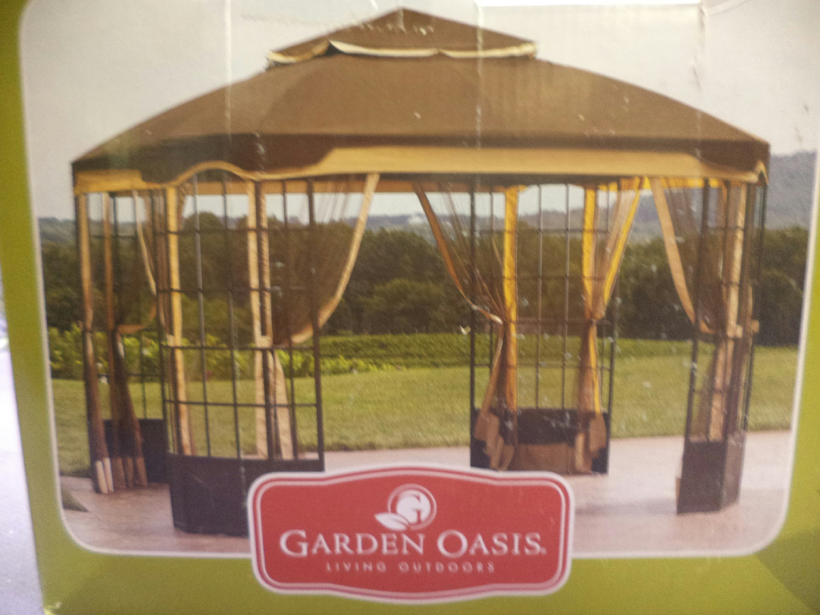 Garden Oasis Replacement Canopy For 10' X 12' Bay Window