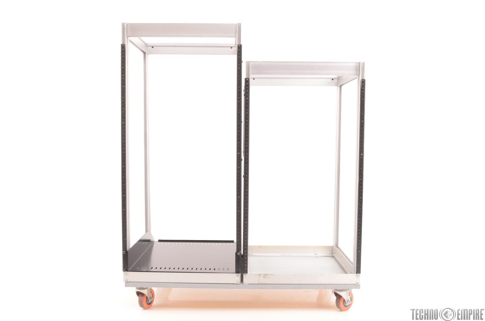 55 Space 55U Aluminum Dual Server Rack Studio Case w/ Casters #24942